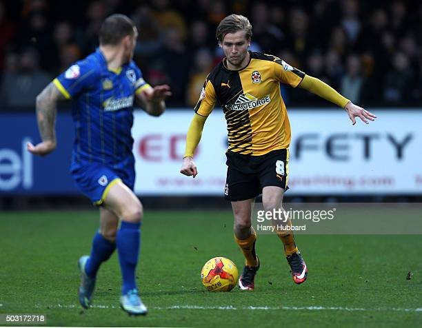 Luke Berry of Cambridge United in action during the Sky Bet League Two match between Cambridge United and AFC Wimbledon at Abbey Stadium on January 2...