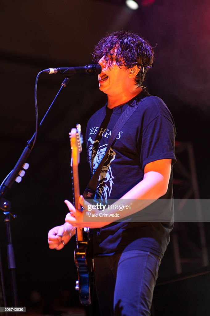 Luke Boerdam from the band Violent Soho performs at St Jerome's Laneway Festival on February 6, 2016 in Brisbane.