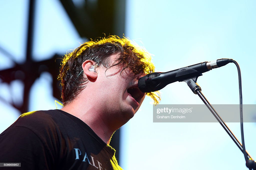 Luke Boerdam of Violent Soho performs at St Jerome's Laneway Festival on February 13, 2016 in Melbourne, Australia.