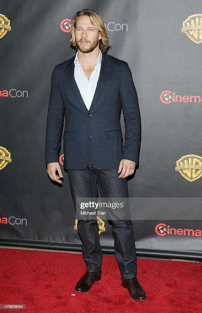Luke Bracey arrives at 2015 CinemaCon - Warner Bros. Presents The Big Picture held at Caesars Palace Resorts and Casino on April 21, 2015 in Las Vegas, Nevada.