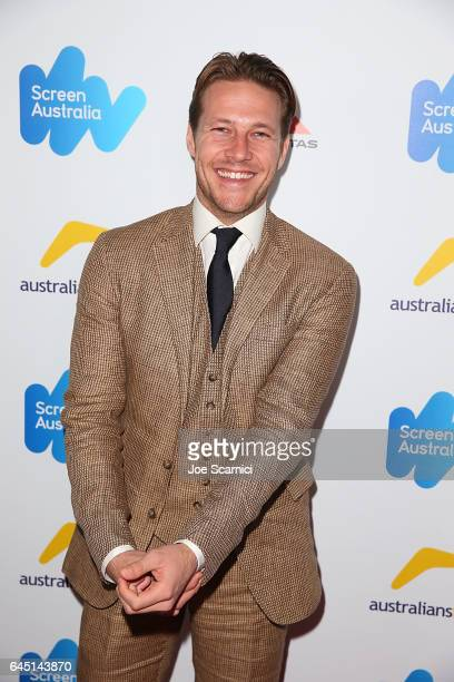 Luke Bracey attends the Screen Australia and Australians In Film reception for Australian Oscar Nominees at Four Seasons Hotel Los Angeles at Beverly...