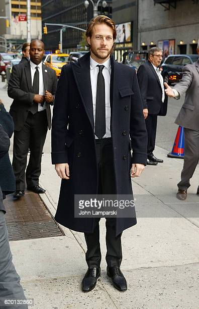 Luke Bracey visits 'The Late Show With Stephen Colbert' at Ed Sullivan Theater on November 1 2016 in New York City