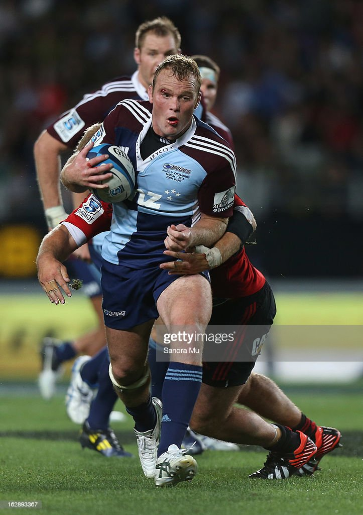 Luke Braid of the Blues in action during the round 3 Super Rugby match between the Blues and the Crusaders at Eden Park on March 1, 2013 in Auckland, New Zealand.