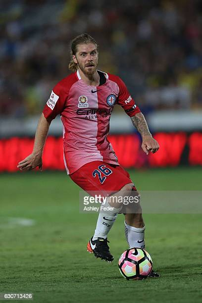 Luke Brattan of Melbourne City in action during the round 13 ALeague match between the Central Coast Mariners and Melbourne City at Central Coast...