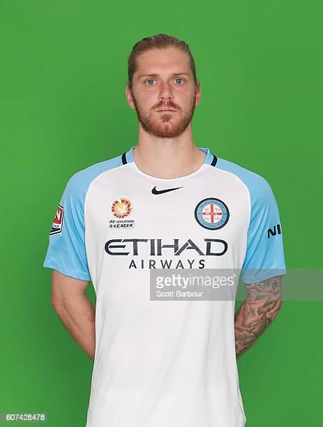 Luke Brattan poses during the Melbourne City FC ALeague headshots session on September 16 2016 in Melbourne Australia