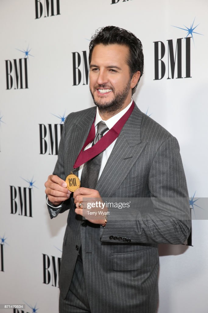 Luke Bryan attend the 65th Annual BMI Country awards on November 7, 2017 in Nashville, Tennessee.