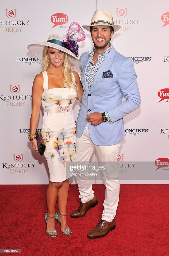 <a gi-track='captionPersonalityLinkClicked' href=/galleries/search?phrase=Luke+Bryan&family=editorial&specificpeople=4001956 ng-click='$event.stopPropagation()'>Luke Bryan</a> (R) attends the 139th Kentucky Derby at Churchill Downs on May 4, 2013 in Louisville, Kentucky.