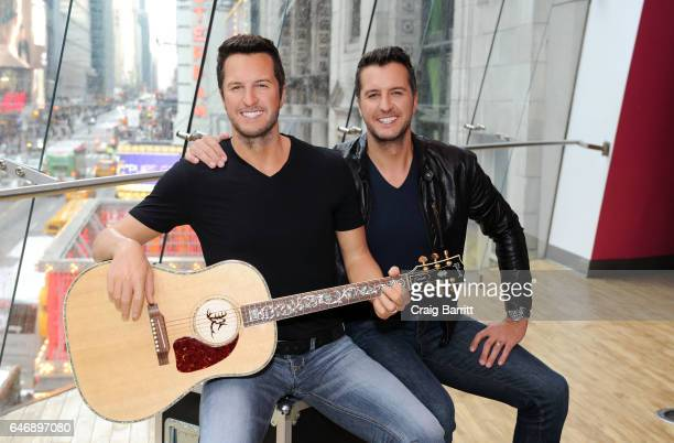 Luke Bryan attends the unveiling of his Madame Tussauds Nashville wax figure in Times Square on March 1 2017 in New York City