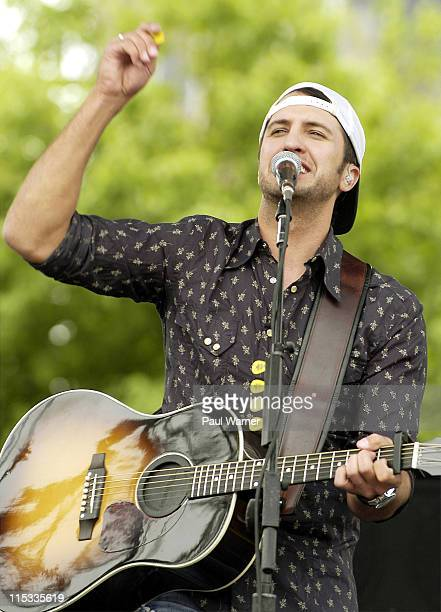 Luke Bryan during 25th Annual Downtown Hoedown Sponsored by Country 995 WYCD Day 2 at Hart Plaza in Detroit Michigan United States
