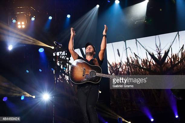 Luke Bryan performs at Soldier Field on August 31 2014 in Chicago Illinois