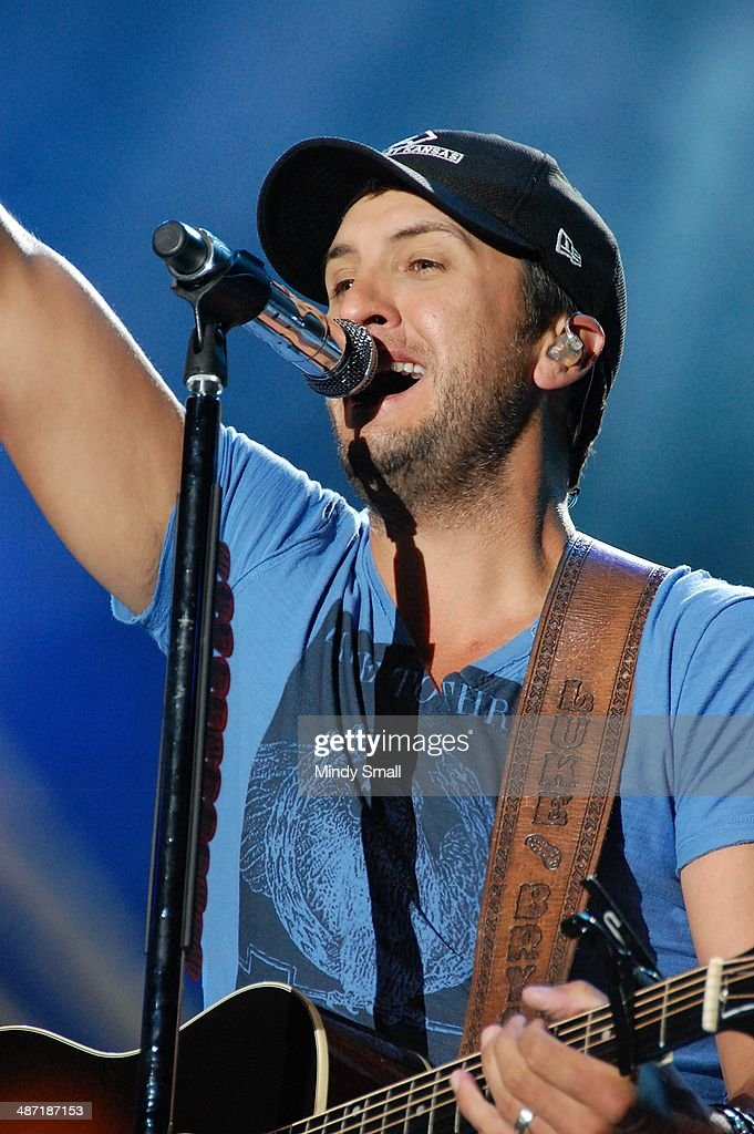 Luke Bryan performs at the 2014 Stagecoach California's Country Music Festival at The Empire Polo Club on April 27, 2014 in Indio, California.