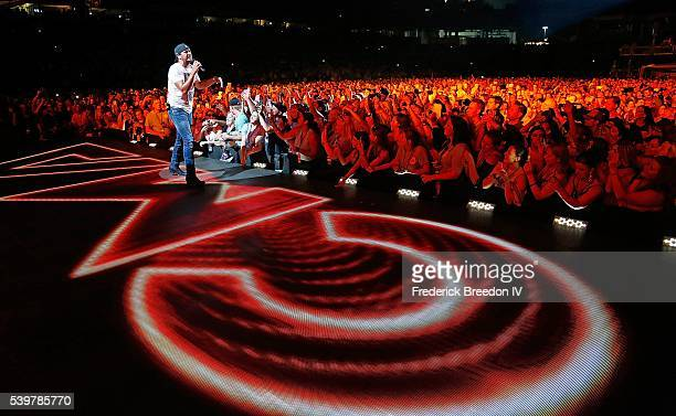 Luke Bryan performs at the CMA Fest at Nissan Stadium on June 12 2016 in Nashville Tennessee
