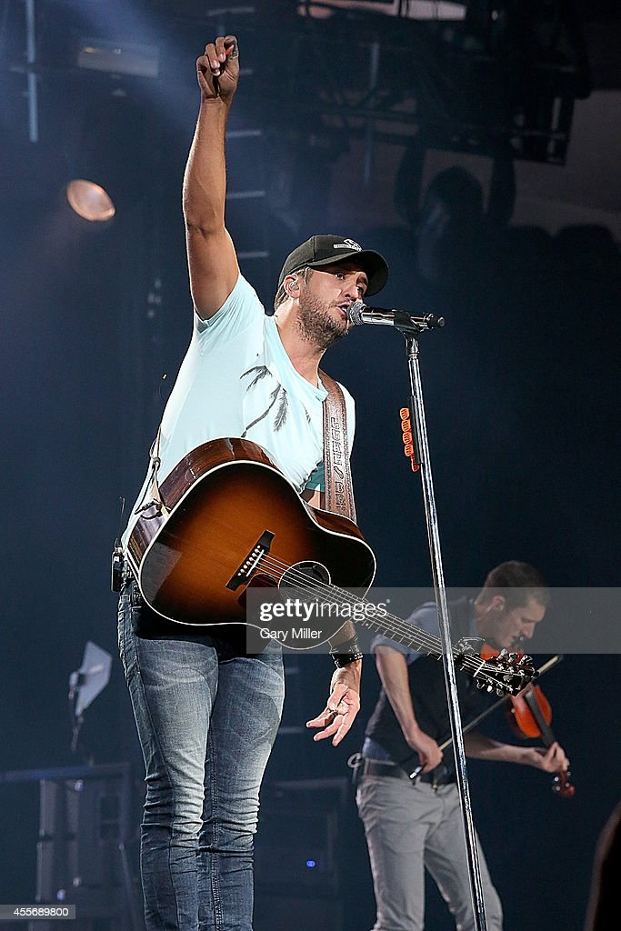 Luke Bryan performs in concert at the ATT Center on September 18 2014 in San Antonio Texas