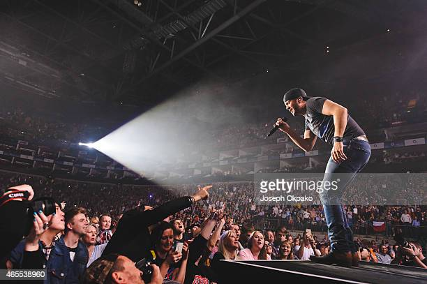 Luke Bryan performs on stage during Day 1 of C2C at The O2 Arena on March 7 2015 in London United Kingdom