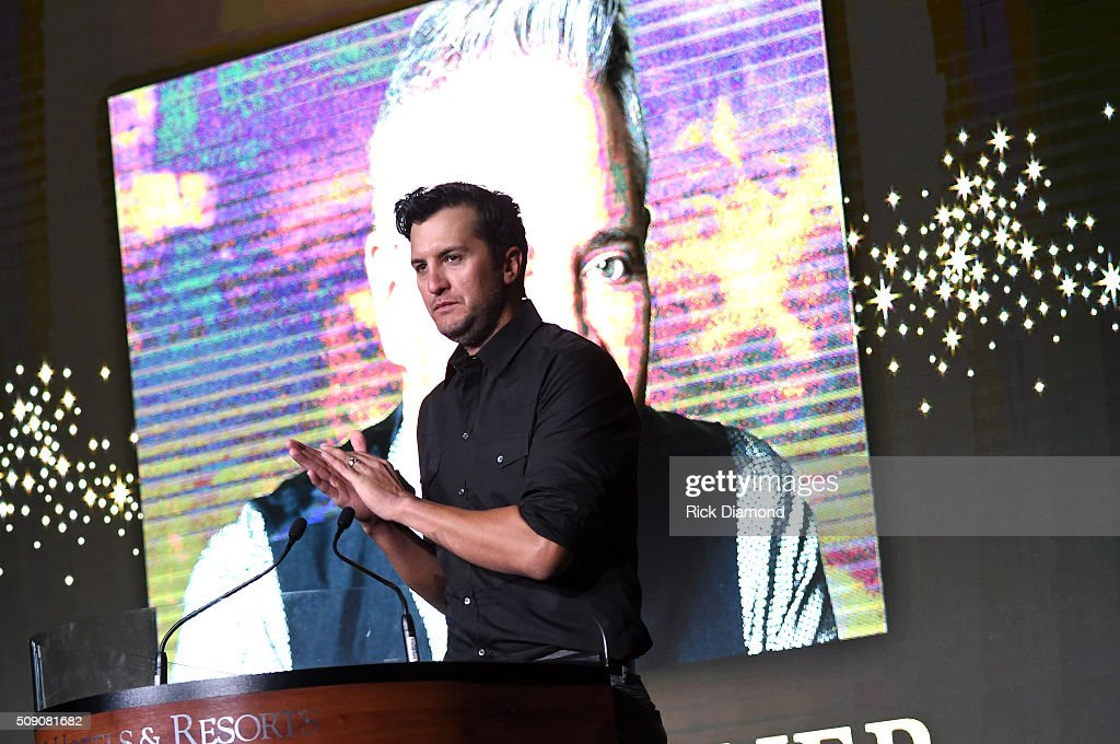 <a gi-track='captionPersonalityLinkClicked' href=/galleries/search?phrase=Luke+Bryan&family=editorial&specificpeople=4001956 ng-click='$event.stopPropagation()'>Luke Bryan</a> speaks onstage during CRS 2016 at Omni Hotel on February 8, 2016 in Nashville, Tennessee.