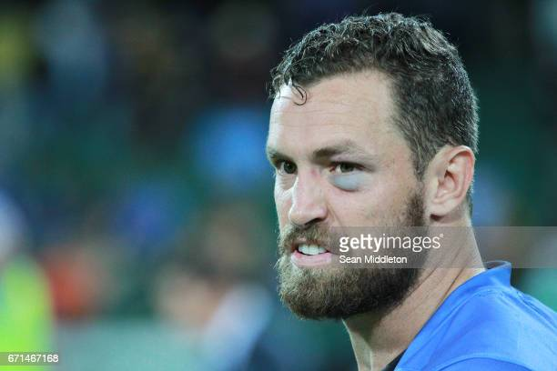 Luke Burton of Force looks on after his team's loss in the round nine Super Rugby match between the Force and the Chiefs at nib Stadium on April 22...