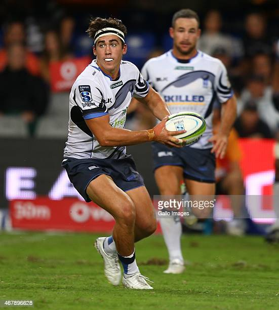 Luke Burton of the Western Force in action during the Super Rugby match between Cell C Sharks and Western Force at Growthpoint Kings Park on March 28...