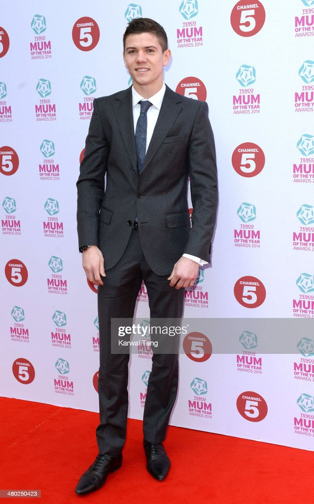 Luke Campbell attends the Tesco Mum of the Year awards at The Savoy Hotel on March 23, 2014 in London, England.