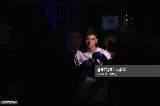 Luke Campbell of Great Britain enters the arena prior to a bout against Luke Campbell of Great Britain for the WBA lightweight title bout at The...