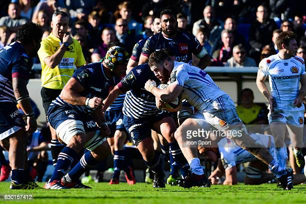 Luke Cowan Dickie of Exeter during the European Champions Cup match between Bordeaux Begles and Exeter at Stade ChabanDelmas on December 17 2016 in...