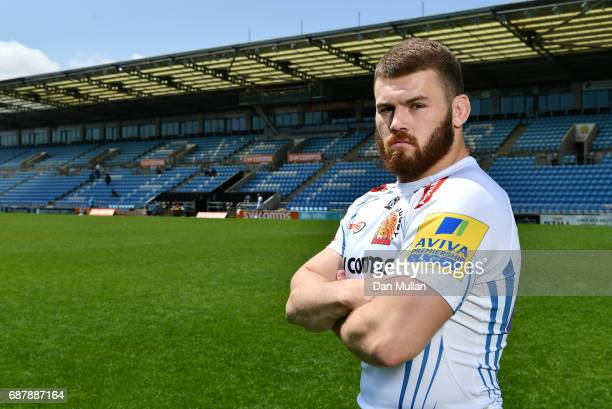 Luke CowanDickie of Exeter Chiefs poses during the media day ahead of the Aviva Premiership Final against Wasps at Sandy Park on May 24 2017 in...
