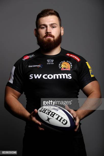 Luke CowanDickie of Exeter Chiefs poses for a portrait during the Exeter Chiefs squad photo call for the 20172018 Aviva Premiership Rugby season on...