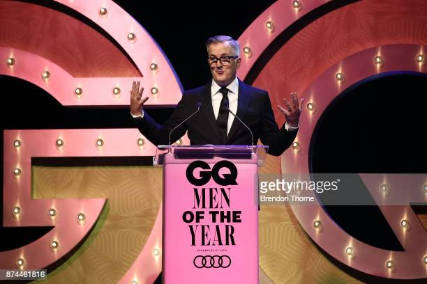Luke Davies accepts the award for Creative Force during the GQ Men Of The Year Awards Ceremony at The Star on November 15 2017 in Sydney Australia