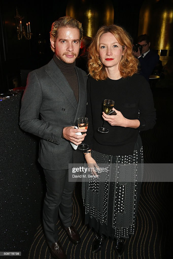 Luke Day (L) attends the GQ and Hackett Pre-BAFTA party, celebrating Hackett's fifth year as the Official Menswear Stylist to the EE British Academy Film Awards, at The Savoy Hotel on February 12, 2016 in London, England.