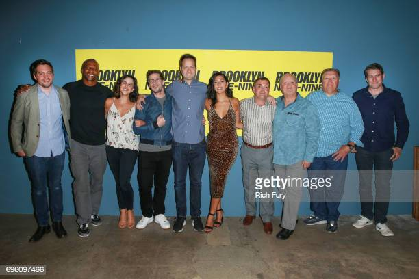 Luke Del Tredeci Terry Crews Melissa Fumero Andy Samberg Dan Goor Stephanie Beatriz Joe Lo Truglio Dirk Blocker Joel McKinnon Miller and Scott...