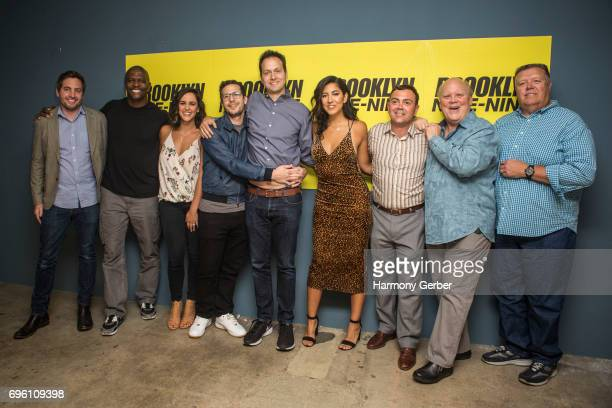 Luke Del Tredeci Terry Crews Melissa Fumero Andy Samberg Dan Goor Stephanie Beatriz Joe Lo Truglio Dirk Blocker and Joel McKinnon Miller attend Fox's...
