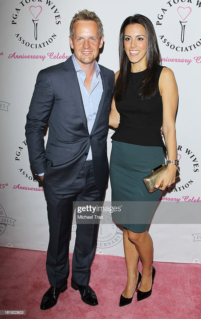 <a gi-track='captionPersonalityLinkClicked' href=/galleries/search?phrase=Luke+Donald&family=editorial&specificpeople=194977 ng-click='$event.stopPropagation()'>Luke Donald</a> (L) and wife, Diane Antonopoulos arrive at the PGA TOUR Wives Association celebrates its 25th Anniversary held at Fairmont Miramar Hotel on February 11, 2013 in Santa Monica, California.