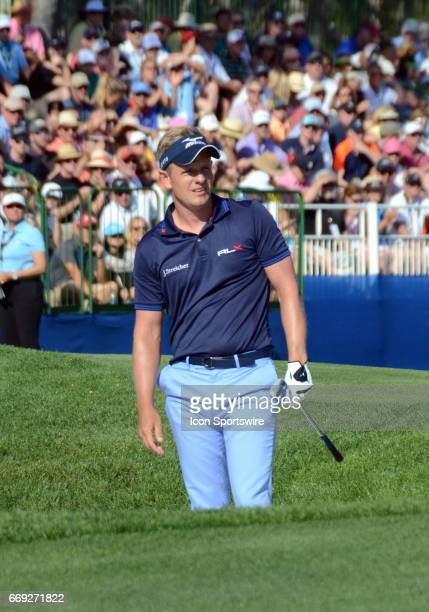 Luke Donald during the third round of the RBC Heritage Presented by Boeing Golf Tournament on April 16 at Harbour Town Golf Links in Hilton Head...