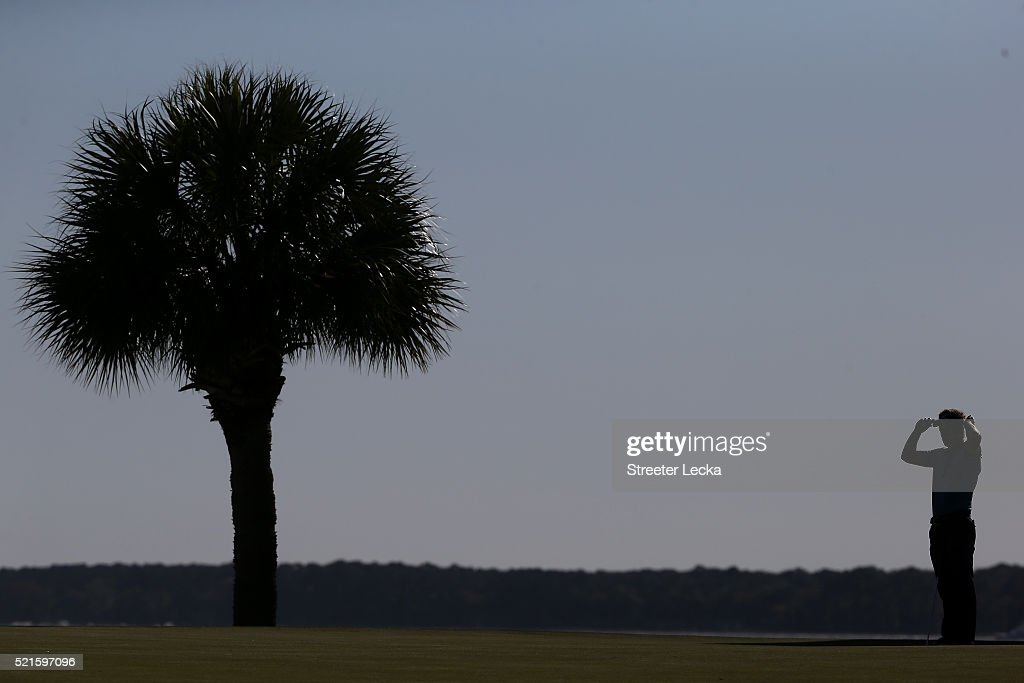Luke Donald of Engand stands on the 17th green during the third round of the 2016 RBC Heritage at Harbour Town Golf Links on April 16, 2016 in Hilton Head Island, South Carolina.