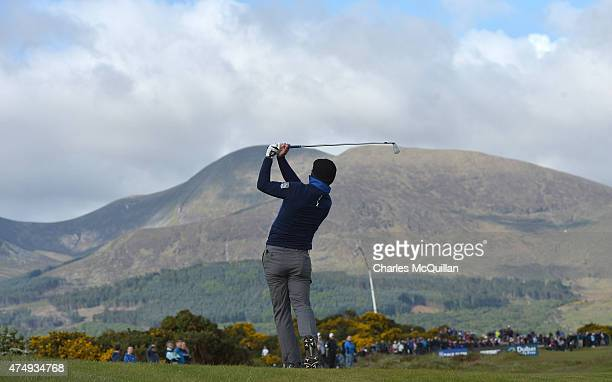 Luke Donald of England during Day One of the Irish Open at Royal County Down Golf Club on May 28 2015 in Newcastle Northern Ireland