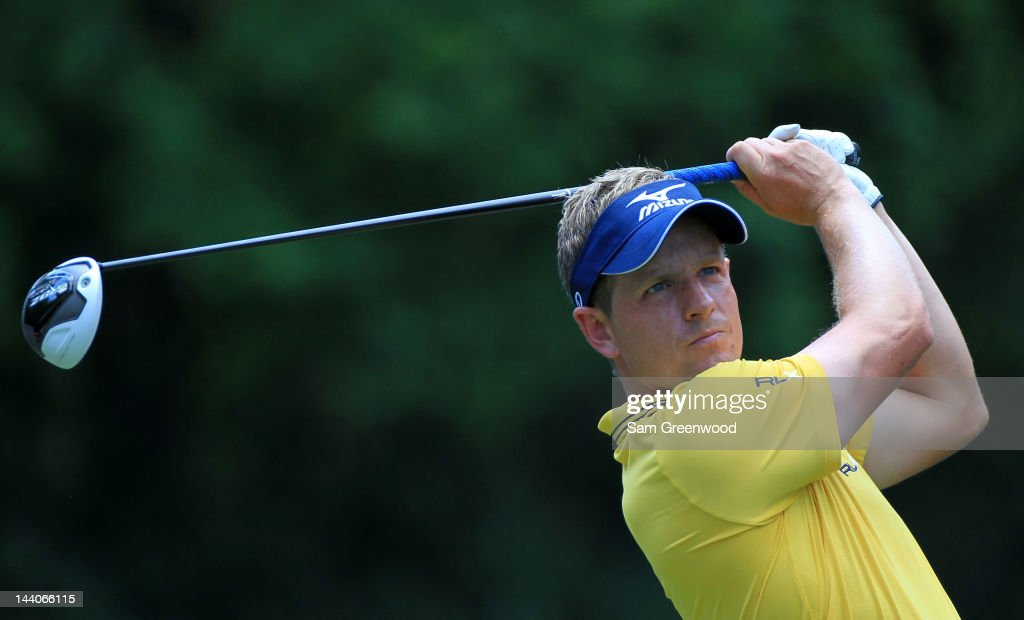 <a gi-track='captionPersonalityLinkClicked' href=/galleries/search?phrase=Luke+Donald&family=editorial&specificpeople=194977 ng-click='$event.stopPropagation()'>Luke Donald</a> of England hits a tee shot during a practice round prior to the start of THE PLAYERS Championship held at THE PLAYERS Stadium course at TPC Sawgrass on May 9, 2012 in Ponte Vedra Beach, Florida.