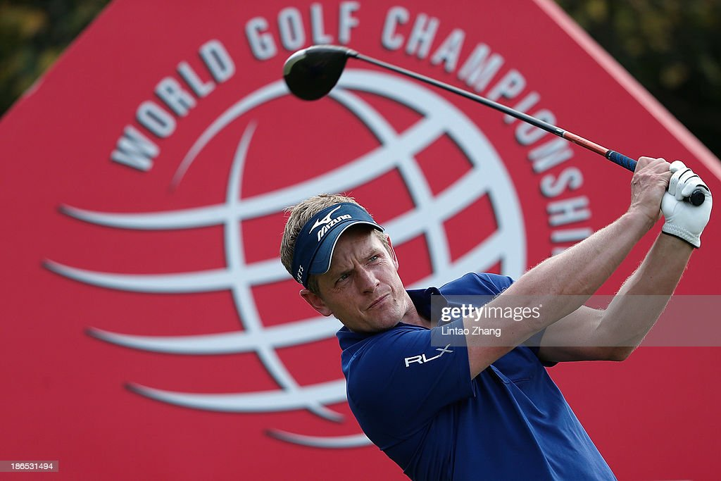Luke Donald of England in action during the second round of the WGC - HSBC Champions at Sheshan International Golf Club on November 1, 2013 in Shanghai, China.