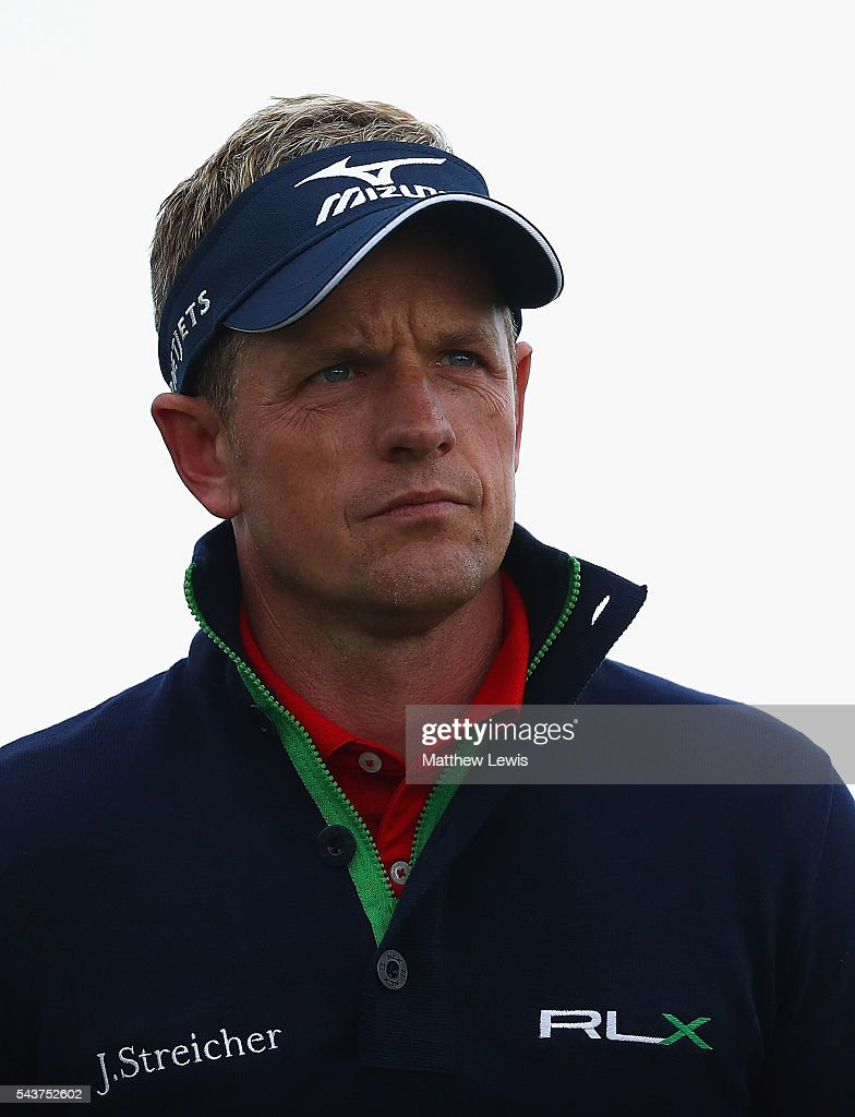 <a gi-track='captionPersonalityLinkClicked' href=/galleries/search?phrase=Luke+Donald&family=editorial&specificpeople=194977 ng-click='$event.stopPropagation()'>Luke Donald</a> of England looks on during day one of the 100th Open de France at Le Golf National on June 30, 2016 in Paris, France.