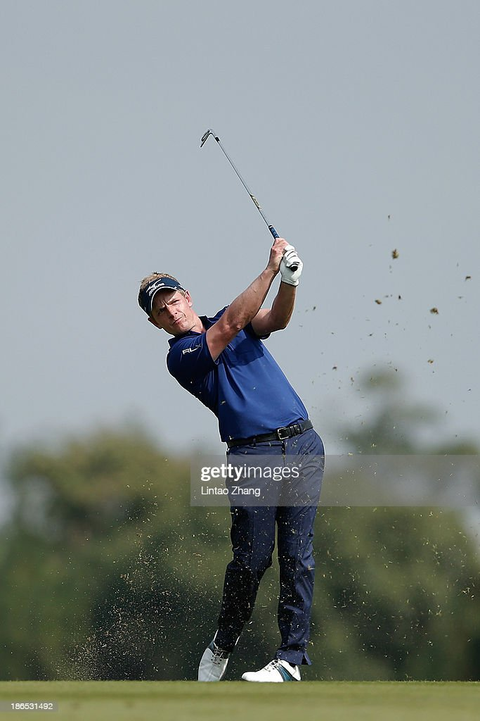 Luke Donald of England plays a shot during the second round of the WGC - HSBC Champions at Sheshan International Golf Club on November 1, 2013 in Shanghai, China.