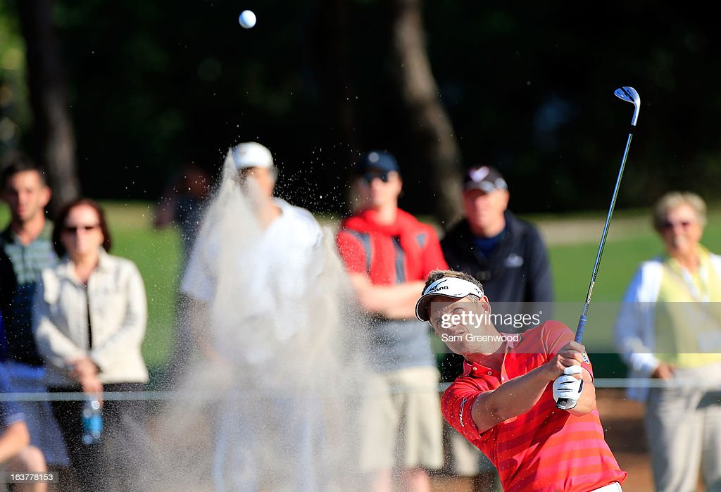 <a gi-track='captionPersonalityLinkClicked' href=/galleries/search?phrase=Luke+Donald&family=editorial&specificpeople=194977 ng-click='$event.stopPropagation()'>Luke Donald</a> of England plays a shot on the 17th hole during the second round of the Tampa Bay Championship at the Innisbrook Resort and Golf Club on March 15, 2013 in Palm Harbor, Florida.