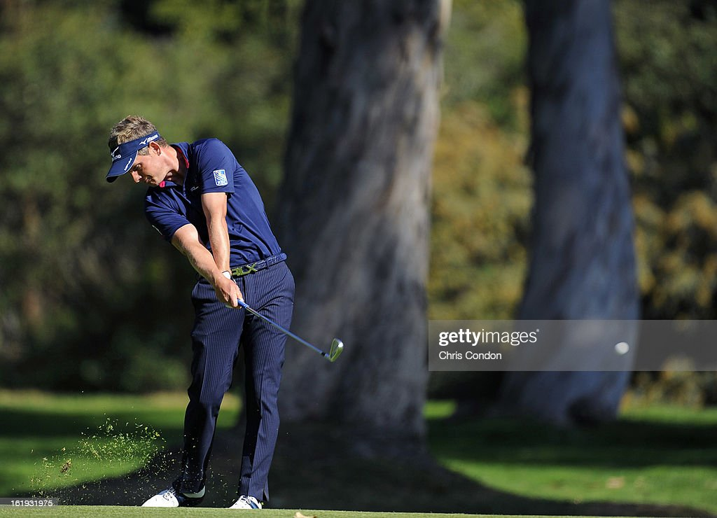 <a gi-track='captionPersonalityLinkClicked' href=/galleries/search?phrase=Luke+Donald&family=editorial&specificpeople=194977 ng-click='$event.stopPropagation()'>Luke Donald</a> of England ton the 13th hole during the final round of the Northern Trust Open at Riviera Country Club on February 17, 2013 in Pacific Palisades, California.