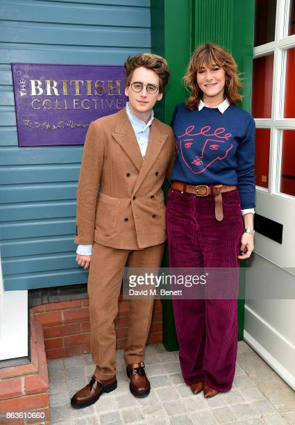 Luke Edward Hall and Sophie Hedley at the opening of the new Bicester Village and the launch of the British Collective at Bicester Village on October...