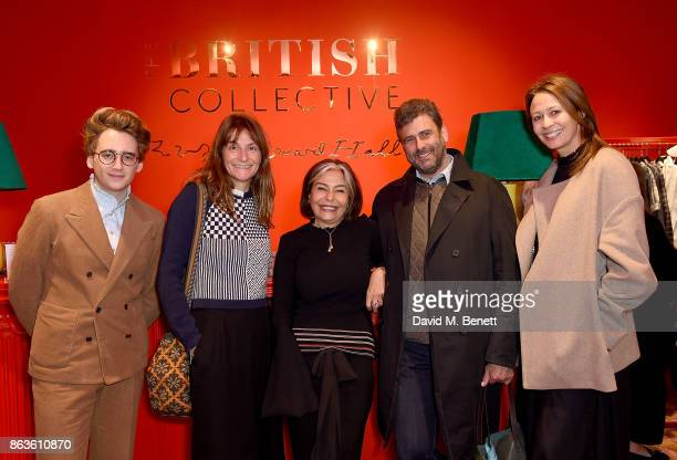 Luke Edward Hall Victoria Stapleton Desiree Bollier Trevor Pickett and Caroline Rush at the opening of the new Bicester Village and the launch of the...