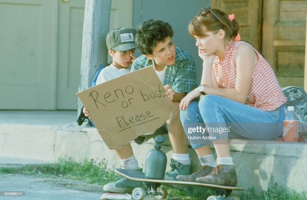 Luke Edwards Fred Savage and Jenny Lewis try to get to Reno in a scene from the Universal Studio movie 'The Wizard' circa 1989