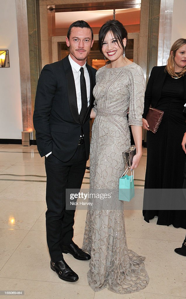 Luke Evans and Daisy Lowe attend the Harper's Bazaar Woman of the Year Awards at Claridge's Hotel on October 31, 2012 in London, England.