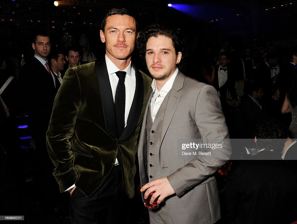 Luke Evans (L) and <a gi-track='captionPersonalityLinkClicked' href=/galleries/search?phrase=Kit+Harington&family=editorial&specificpeople=7470548 ng-click='$event.stopPropagation()'>Kit Harington</a> attend the 2nd Anniversary of The Box with Belvedere Vodka on February 6, 2013 in London, England.
