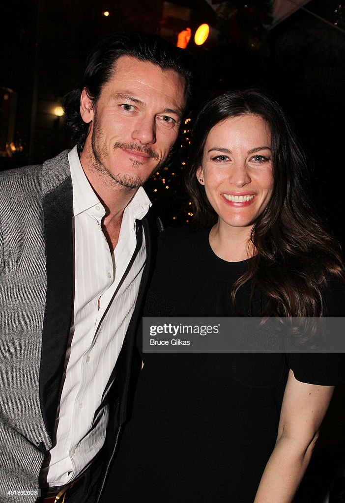 Luke Evans and <a gi-track='captionPersonalityLinkClicked' href=/galleries/search?phrase=Liv+Tyler&family=editorial&specificpeople=202094 ng-click='$event.stopPropagation()'>Liv Tyler</a> pose at the 'No Man's Land' & 'Waiting For Godot' Opening Night after party at the Bryant Park Grill on November 24, 2013 in New York City.