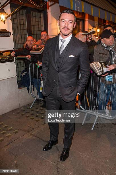 Luke Evans arrive the Weinsten x Grey Goose Pre BAFTA party at Little House Mayfair on February 12 2016 in London England