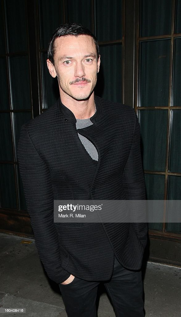 Luke Evans attending the InStyle Best of British Talent party held at Shoreditch House on January 30, 2013 in London, England.