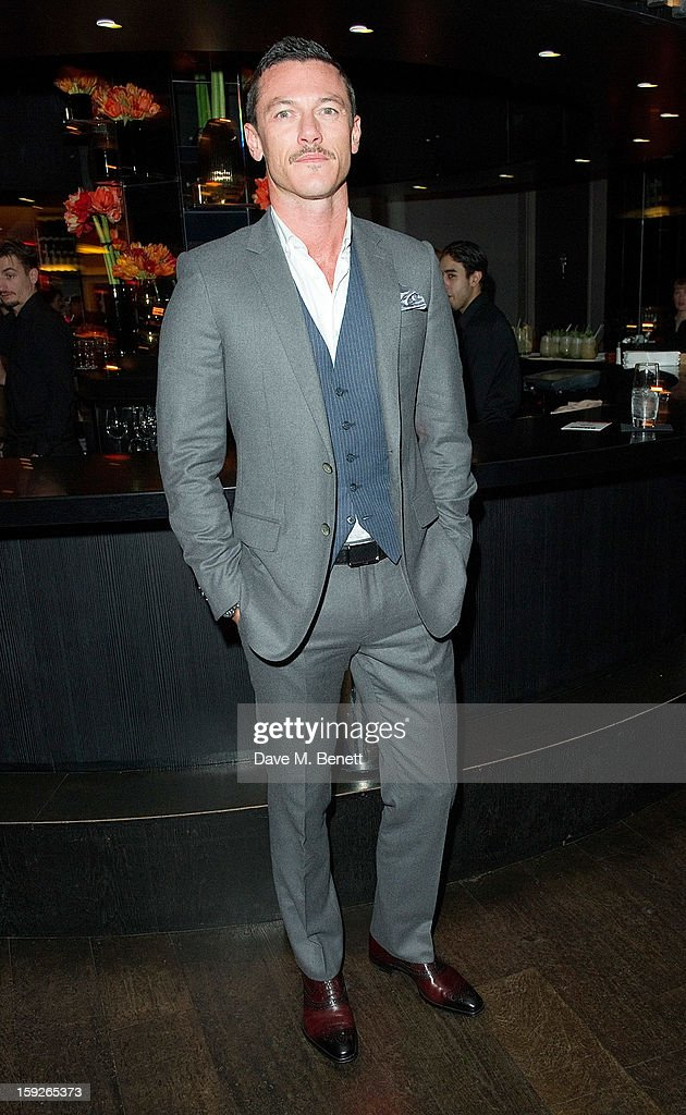Luke Evans attends an after party following the UK Premiere of 'Django Unchained' at Aqua on January 10, 2013 in London, England.