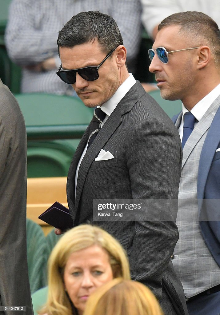 <a gi-track='captionPersonalityLinkClicked' href=/galleries/search?phrase=Luke+Evans+-+Actor&family=editorial&specificpeople=7174812 ng-click='$event.stopPropagation()'>Luke Evans</a> attends day five of the Wimbledon Tennis Championships at Wimbledon on July 01, 2016 in London, England.